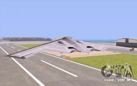 B-2 Spirit para GTA San Andreas esquerda vista
