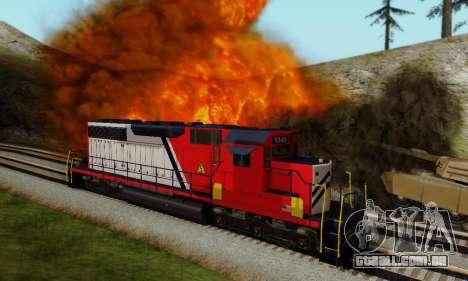 GTA V Trem para GTA San Andreas esquerda vista