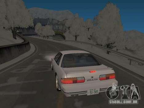 SinAkagi Snow Drift pista para GTA San Andreas segunda tela