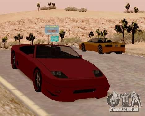 Super GT Conversível para GTA San Andreas vista direita