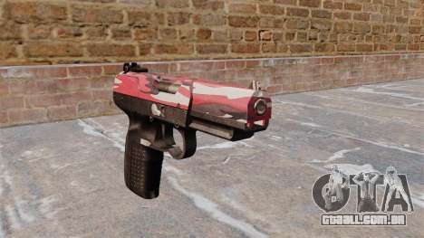 Arma FN Cinco-sete interior Vermelho para GTA 4