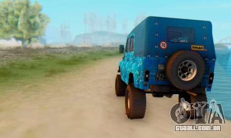 UAZ 469 Blue Star para GTA San Andreas vista direita
