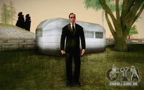 Agent Smith from Matrix para GTA San Andreas