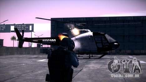 Special Weapons and Tactics Officer Version 4.0 para GTA San Andreas por diante tela
