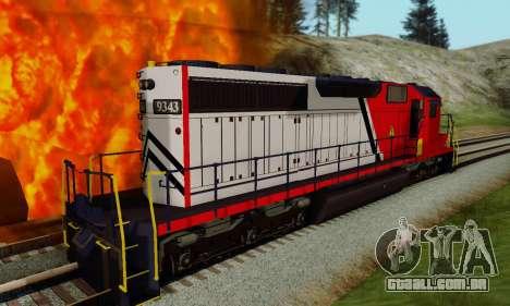 GTA V Trem para GTA San Andreas traseira esquerda vista