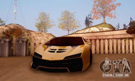 Pegassi Zentorno GTA 5 v2 para GTA San Andreas vista direita
