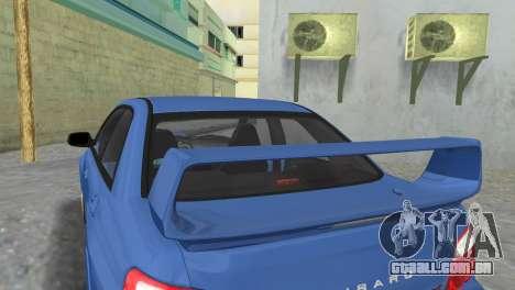 Subaru Impreza WRX STI 2005 para GTA Vice City vista traseira