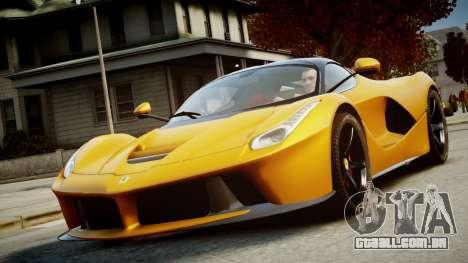 Ferrari LaFerrari v1.2 para GTA 4 vista de volta