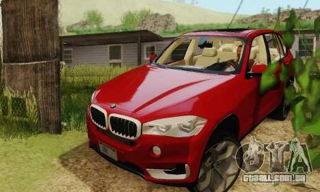 BMW X5 (F15) 2014 para GTA San Andreas vista direita