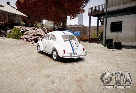 Volkswagen Beetle 1962 para GTA 4 esquerda vista