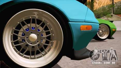 Mazda Miata Hellaflush para GTA San Andreas esquerda vista