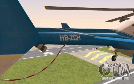 Bell 430 para GTA San Andreas traseira esquerda vista