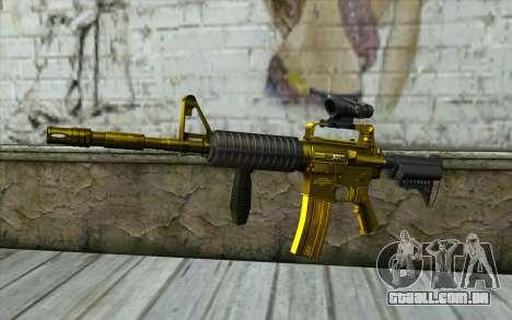 Ouro M4, com vista para GTA San Andreas