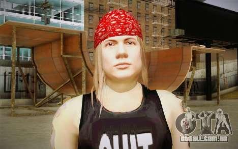 Axl Rose Skin v2 para GTA San Andreas terceira tela