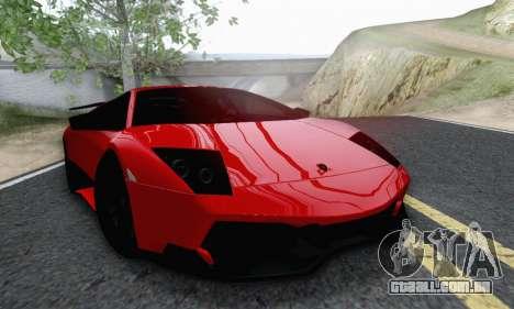 Lamborghini Murcielago LP670-4 SV para GTA San Andreas vista direita