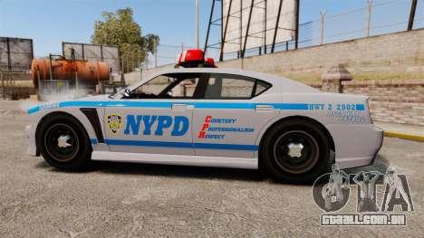 GTA V Bravado Buffalo NYPD para GTA 4 esquerda vista