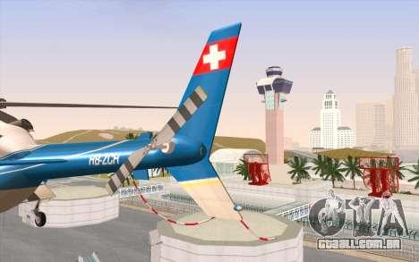 Bell 430 para GTA San Andreas vista traseira