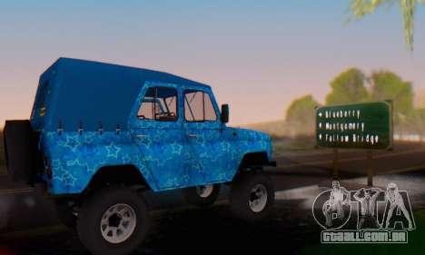 UAZ 469 Blue Star para GTA San Andreas vista superior