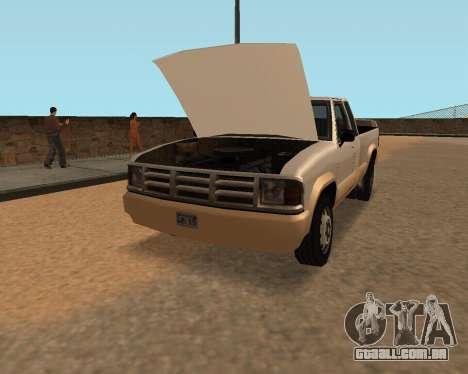Nova Pickup para GTA San Andreas vista direita