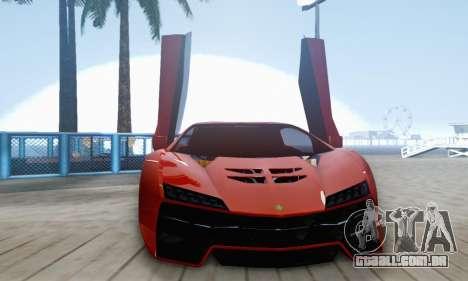 Pegassi Zentorno GTA 5 v2 para GTA San Andreas vista superior