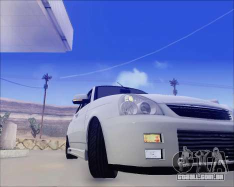 Lada 2170 Priora Tuneable para GTA San Andreas vista superior