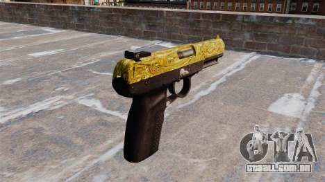 Arma FN Cinco sete de Ouro para GTA 4 segundo screenshot
