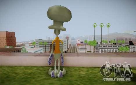 Squidward Tentacles para GTA San Andreas segunda tela