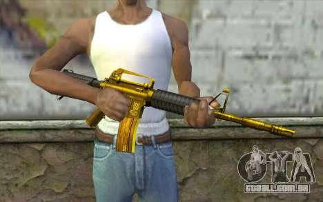Ouro M4 sem visão para GTA San Andreas terceira tela