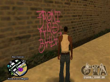 Tags Map Mod v1.0 para GTA San Andreas segunda tela