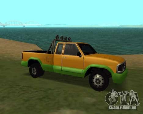 Nova Pickup para GTA San Andreas esquerda vista