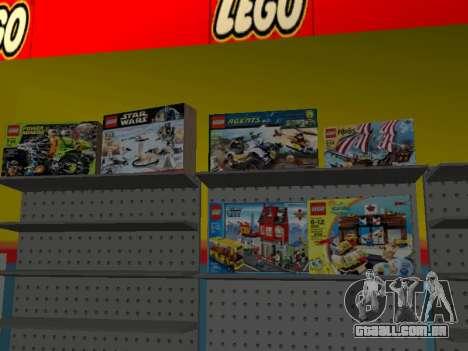 O LEGO shop para GTA San Andreas oitavo tela