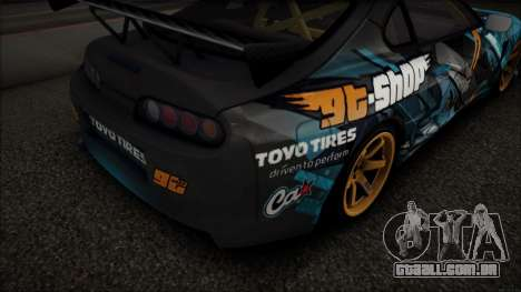 Toyota Supra GT-Shop para GTA San Andreas esquerda vista