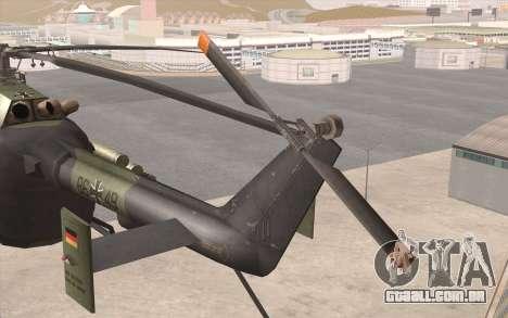 Bo-105 para GTA San Andreas vista direita