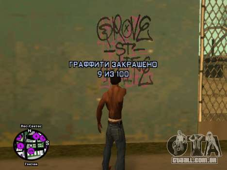 Tags Map Mod v1.0 para GTA San Andreas terceira tela
