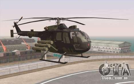 Bo-105 para GTA San Andreas esquerda vista