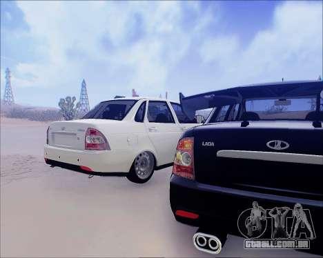 Lada 2170 Priora Tuneable para GTA San Andreas vista traseira