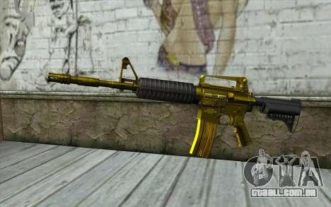 Ouro M4 sem visão para GTA San Andreas