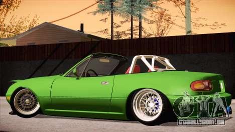 Mazda Miata Hellaflush para GTA San Andreas vista interior