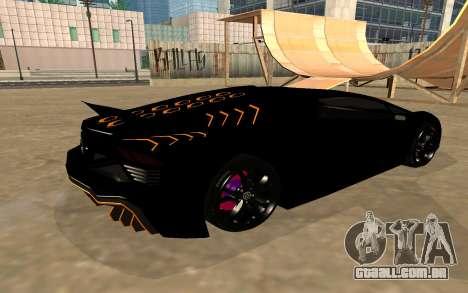 GTA 5 Zentorno para GTA San Andreas vista interior
