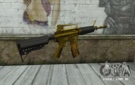 Ouro M4 sem visão para GTA San Andreas segunda tela