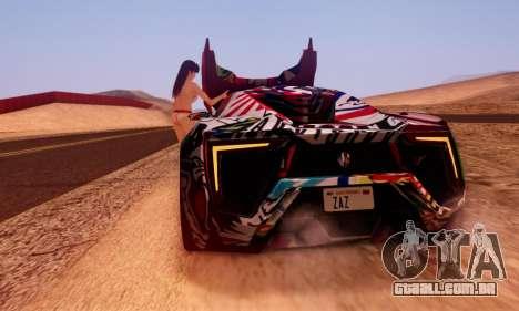 W-Motors Lykan Hypersport 2013 Stiker Editions para GTA San Andreas esquerda vista