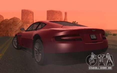 Aston Martin DBR9 para GTA San Andreas vista traseira