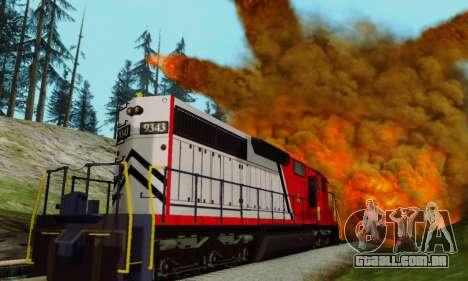 GTA V Trem para GTA San Andreas vista traseira