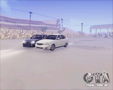 Lada 2170 Priora Tuneable para GTA San Andreas vista interior