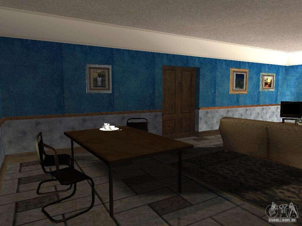 O novo interior da casa do cj para gta san andreas for Casa moderna gta sa