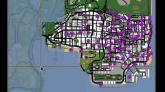 Tags Map Mod v1.0 para GTA San Andreas