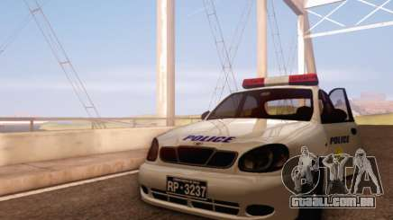 Daewoo Lanos Police para GTA San Andreas