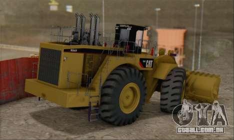 Caterpillar 994F para GTA San Andreas esquerda vista