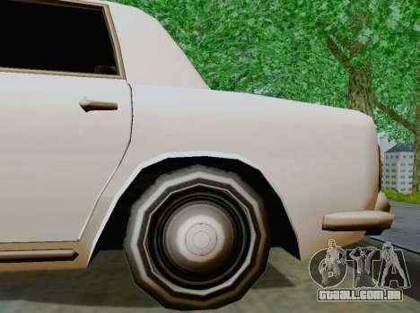 Stafford Limousine para GTA San Andreas vista traseira