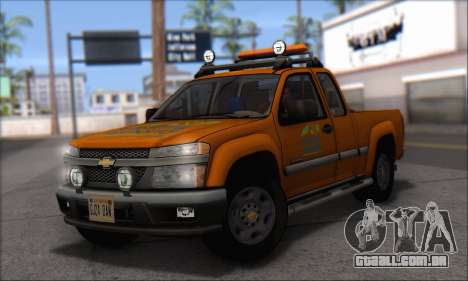 Chevrolet Colorado Cleaning para GTA San Andreas traseira esquerda vista